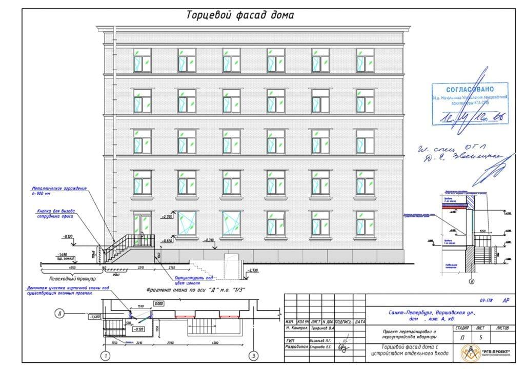 проект фасада после